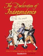 The Declaration of Independence Book Cover - three revolutionary people marching