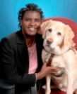 Denna Lambert with guide dog