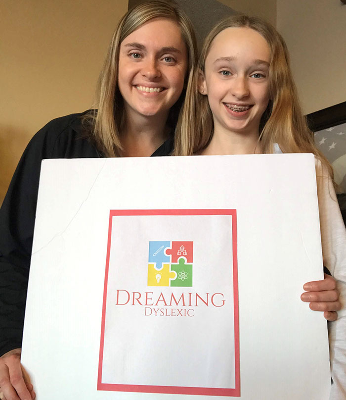 Mother and Duaghter Dreaming Dyslexic